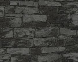 steen behang  glitter grijs zwart xxt1