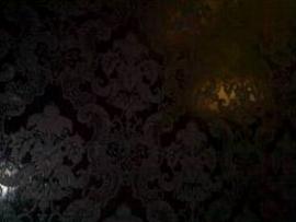 barok behang vinyl parelmoer zwart 136