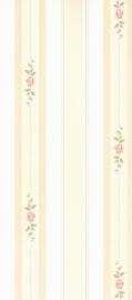 dollhouse 49230 rood groen beige streep stijlvol behang
