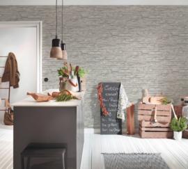 7071-16 grijs natuursteen vlies behang  as creation tapete