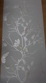 vogel takken bomen parelmoer behang 029