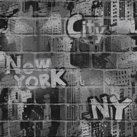 Dutch Jet Setter behang J674-09 Graffiti New York