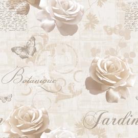 bloemen vlinder behang 127504