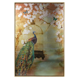 Arthouse Katarina canvas Peacock Framed Metallic 004758