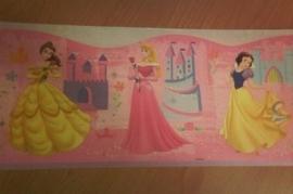 roze geel stijlvol prinsessen zelfklevende behangrand 49