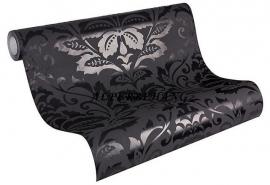 zwart barok vlies behang 58