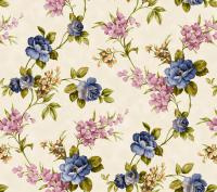 blauw bloemen tafelzeil 0131804