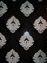 zwart wit barok vlies 3d behang 5543-14