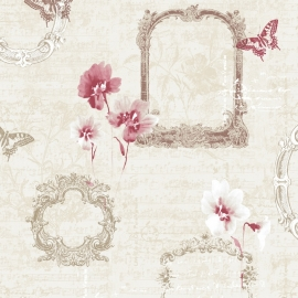 Muriva Valentina Wallpaper in Red - 129502