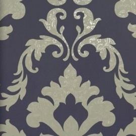 BN Wallcoverings Glamorous 46740 barok paars, taupe vlies