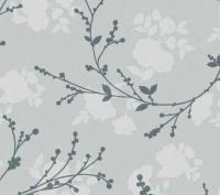 grijs bloemen tafelzeil 165301