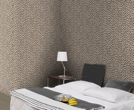 bruin creme luipaardprint dieren print behang 31