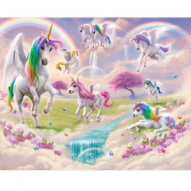 fotobehang Magical Unicorn meisjes
