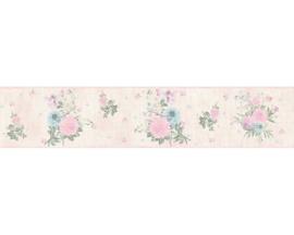 creme bloemen behangrand 35876-1