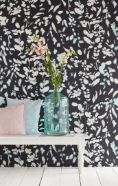 Eijffinger Black & Light Wallpower 356219 Painted Petals
