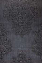 barok behang glitter zwart vlies