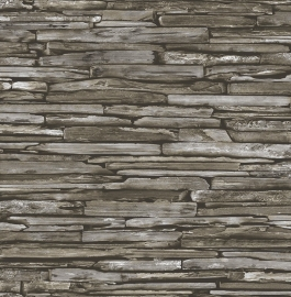 Dutch Reclaimed behang FD22351 Stacked Slate