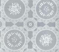 kant tafelzeil tafelkleed wit bloemetjes  ptx16