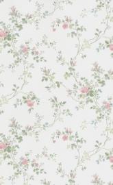 dollhouse 68825 rood blauw beige bloemen stijlvol behang