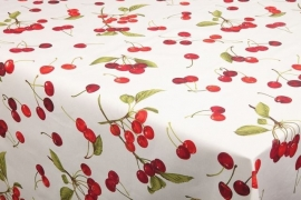150-178 rood groen wit kersen tafelzeil