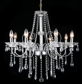 Kroonluchter klassiek diamant hanglamp ghrome 5160-8