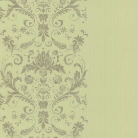 groen barok behang boudoir 62145