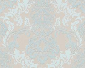 Blauw barok  behang 36166-2
