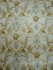 hermitage vinyl goud bloemen behang 171