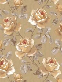 rozen vinyl 3d behang  goud xx2