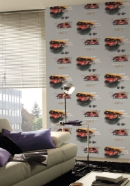 jongens tiener auto behang x35