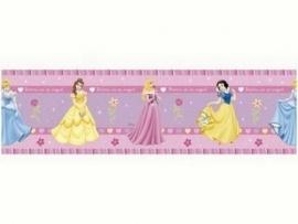 blauw geel roze paars prinsessen behangrand 33