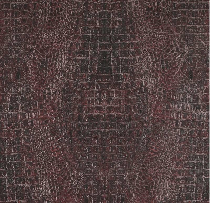 Curious Croco kroko behang bordeaux rood metallic 17953