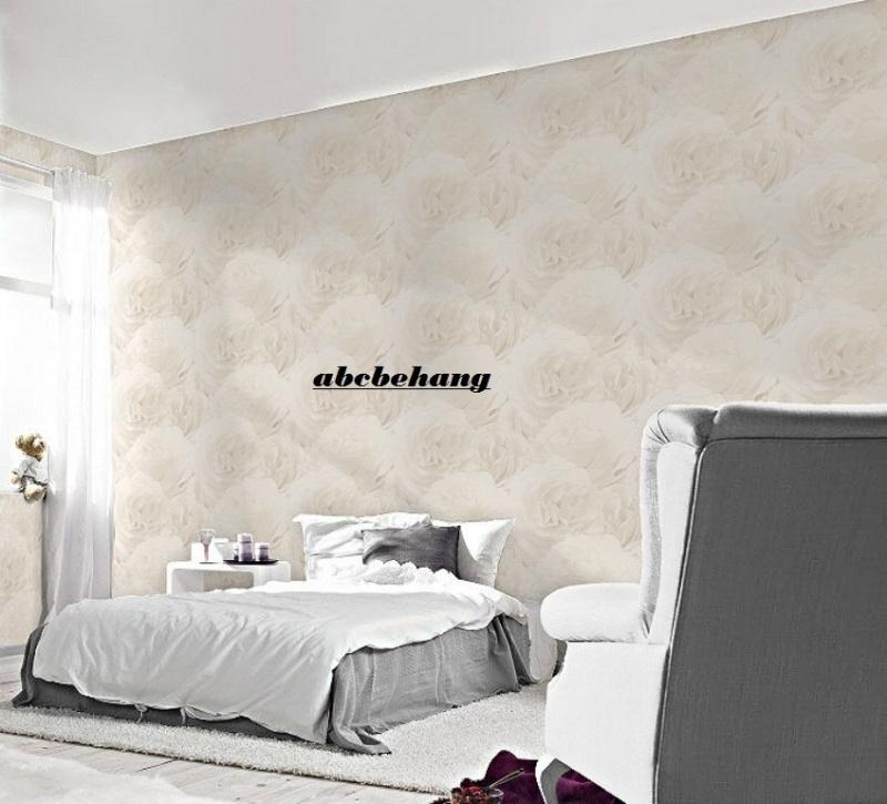 Goede bloemen rozen anjers vinyl 3d behang 818406 | BLOEMEN BEHANG BJ-78