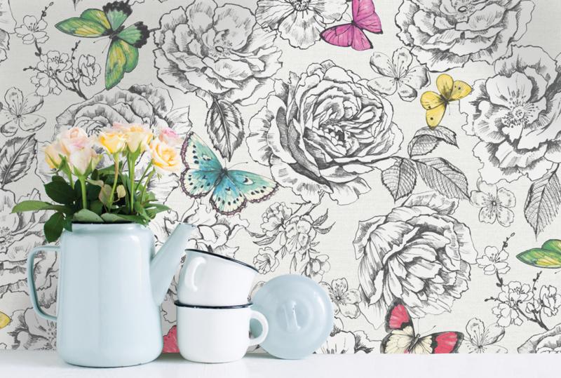 Dutch First Class The Enchanted Garden behang Frieda 98910 vlinder