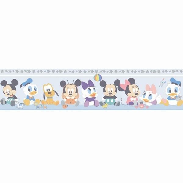 Minnie baby micky baby behangrand 3500-1