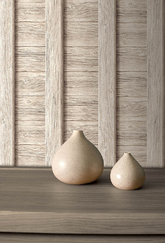 hout vlies behang 3d creme Be yourself too J186-07