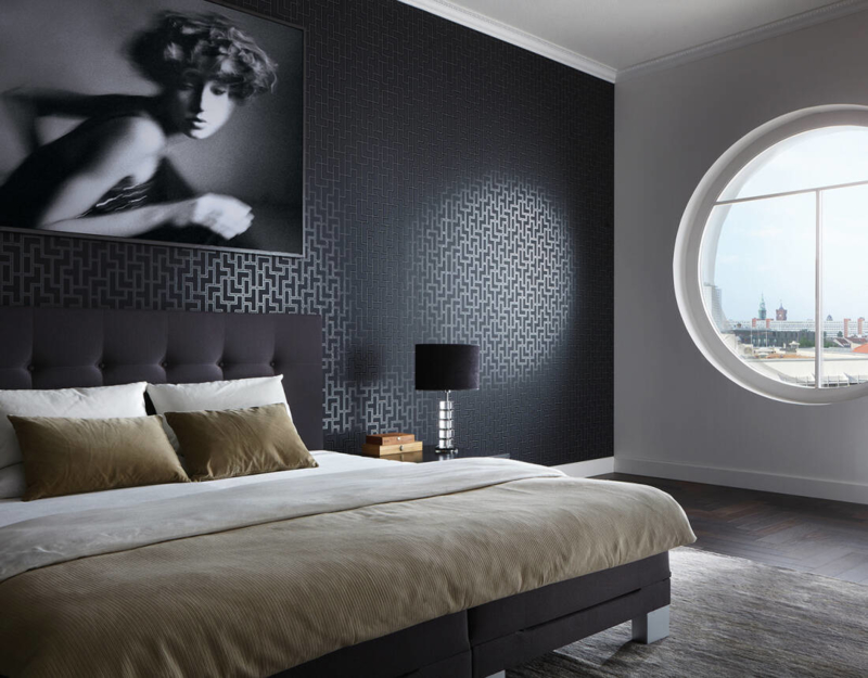 Modern Behang Slaapkamer.Op Zoek Naar Retro Behang Bekijk Snel Abcbehang Nl