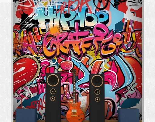 Mantiburi Fotobehang HipHop Graffiti Wall 196