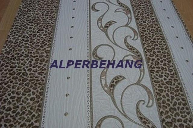 Dierenprint italiaanse vinyl 70 cm breed creme bruin rose xx478