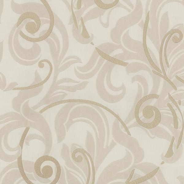 02265-50 bruin modern barok behang
