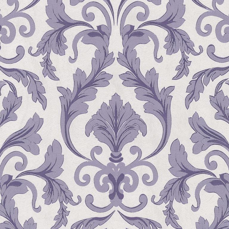 02264-30 paars stijlvol barok behang
