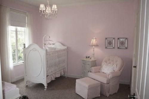 Behang Kinderkamer Roze.Babykamer Behang Roze Effe Uni 610628 Effe Uni Behang