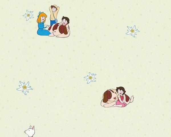 Heidi meisjes behang print 94198-3