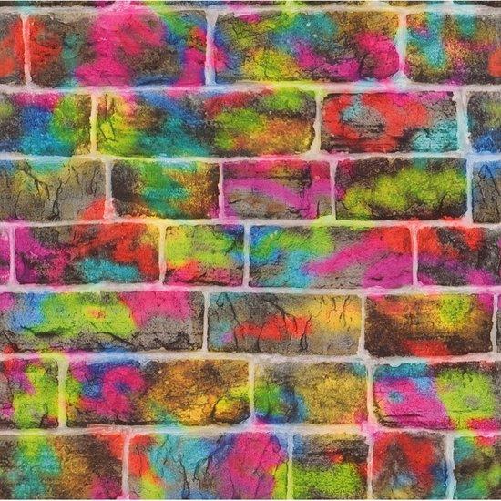 Rasch Kids & Teens  graffiti steen behang 291407