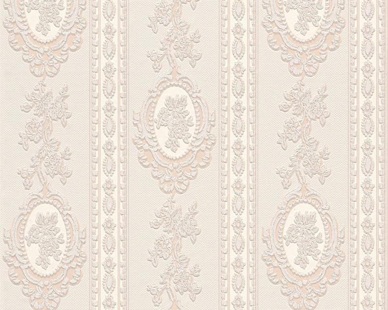 Bloemen Behang Beige creme Metallics glitter 18613-3