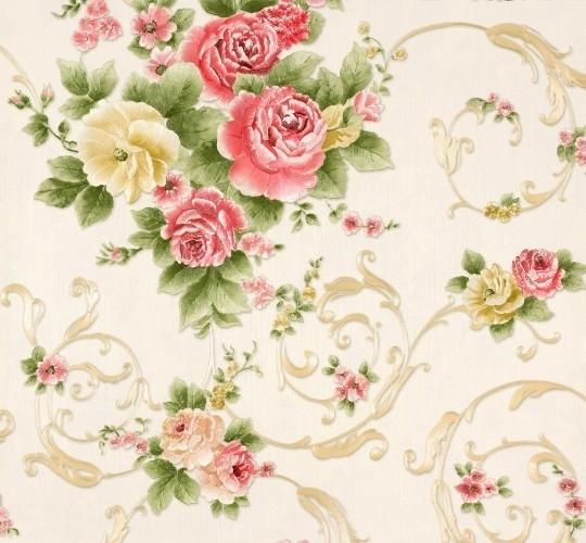 Romantica Bloemen crème beige 30647-3  AS Creation