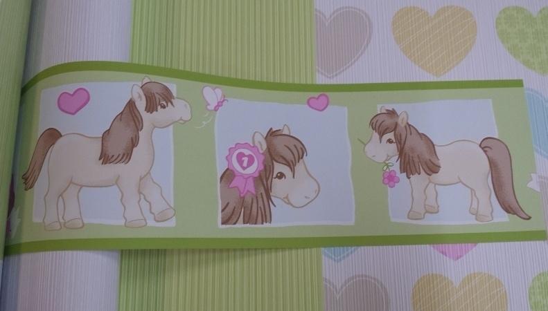 my little pony behangrand paarden meisjes rand dd141