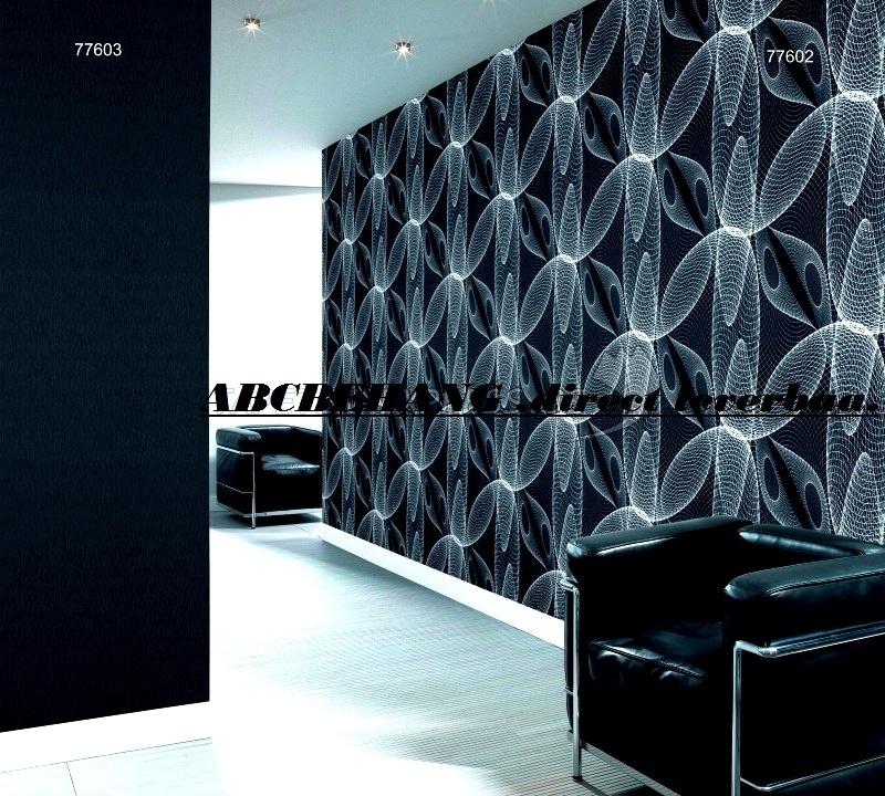 Hedendaags Retro vlies behang 3d zwart wit marrburg 77602 | RETRO BEHANG JE-31