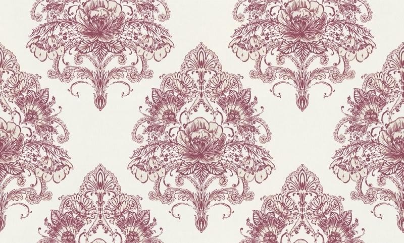 937413 La romantica roze creme behang