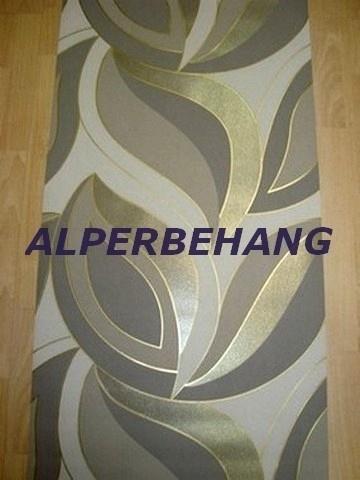 retro behang goud bruin creme 576